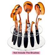 10 Holes Oval Makeup Brush Holder Cosmetic Brushes Drying Rack Organiser Shelf Tool