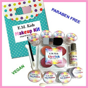 14pc Kit E.M. Kids Natural Pretend Play Girls Makeup Set w/ Free Makeup Bag