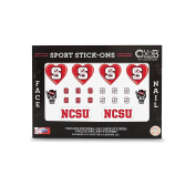 North Carolina State - Face and Nail Sport Stick-Ons
