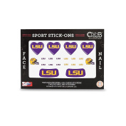LSU - Face and Nail Sport Stick-Ons