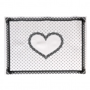 Creazy Silicon Lace Polka Dot Heart Pattern Nail Art Table Mat Pad Manicure Clean