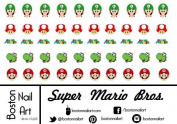 Super Mario Bros. Waterslide Nail Decal - 50pc