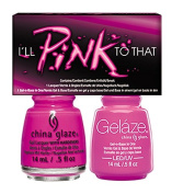 CHINA GLAZE GELAZE & POLISH 2PC SET - I'LL PINK TO THAT