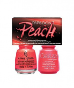 CHINA GLAZE GELAZE & POLISH 2PC SET - PAPA DON'T PEACH