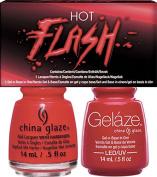 CHINA GLAZE GELAZE & POLISH 2PC SET - HOT FLASH