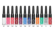 Gabrini - Professional Nail Art Polish with Liner Brush - 12 Colour Set - 7 ml / 0.24 fl.oz.