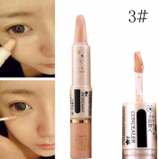 Concealer Pen Stick Cream Face Lip Eye Foundation Spot Blemish Natural Makeup Professional Dark Eye Hide Blemish Face 3#