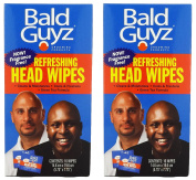 Bald Guyz Refreshing Head Wipes Fragrance Free, 16 Count