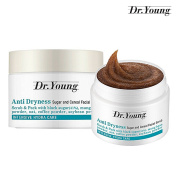 [Dr. Young] Anti Dryness Care Sugar and Cereal Facial Scrub 60g - Black Sugar & Oat & Coffee, Soybean, Mung Bean Powder