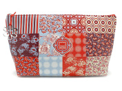 FLORAL QUILT COSMETIC BAG 23,5 x 16,5 cm