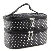 Top McKinley Dots Double-Layer Toiletry/Cosmetic/Makeup Bag Travel Wash Organiser Case