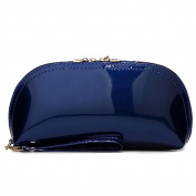 Rich Too Women PU Patent Leather Long Clutch Purse Case Evening Wristlet Makeup Bag