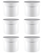 6 - 70ml White HDPE Jar's