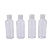 4 Pcs/Set Travel Bottles for Makeup Cosmetic Toiletries Liquid Containers Leak Proof Portable Travel Accessories by Team-Management
