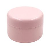 12 Pcs 50G 50ML Refillable Plastic Empty Face Cream Lotion Cosmetic Powder Container Makeup Make Up Glitter Storage Bottle Jar Lot with Inner Lids - Pink