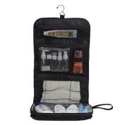 Bidafun Hanging Toiletry Bag for Women Ideal for Or Storing Cosmetics Makeup in Organiz Large Size Black