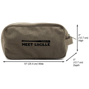 Meet Lucille Canvas Shower Kit Travel Toiletry Bag Case