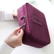 Efivs Arts Portable Hanging Toiletry Bag/ Portable Travel Organiser Cosmetic Bag