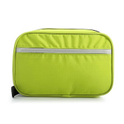 ULTNICE 3L Portable Nylon Makeup Toiletry Cosmetic Storage Bag Washing Pouch with Hanging Hook for Travelling Green