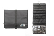 Large Hanging Toiletry Bag,Organise Your Cosmetic Makeup Case,Shaving Pouch, For Business,Travel,Bathroom, Strong Black Polyester Stainless,By YOFI,Nurture Yourself Get Yours NOW