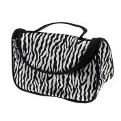 Women Ladies Makeup Cosmetic Case Toiletry Bag Zebra Travel Handbag
