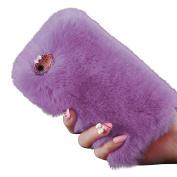 Sunfei 2016 Warm Fluffy Villi Fur Plush Wool Bling Case Cover Skin for iPhone 6S Plus