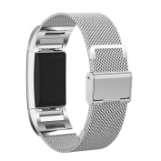 AutumnFall Milanese Stainless Steel Watch Band Strap Bracelet for Fitbit Charge 2