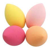 Toolcool 4Pcs Oblique Head Soft Cosmetic Makeup Facial Sponge Foundation Powder Puffs