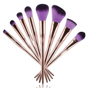 Ucanbe 8pcs Unique Makeup Brushes Set - Professional Synthetic Hair Cosmetic Makeup Brushes Collection