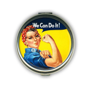 Retro-a-go-go! Rosie the Riveter Travel Makeup Compact Mirror