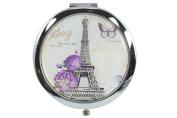 Paris Eiffel Tower Vintage Art Double Side Compact Mirror