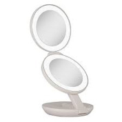 11cm L x 3.8cm W x 28cm H Zadro 1x/10x LED Lighted Travel Mirror