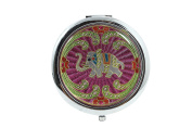Lucky Elephant Vintage Elephant Art Round Double Side Compact Mirror