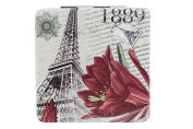 Europe Travel Tourism Vintage Art Square Double Side Compact Mirror