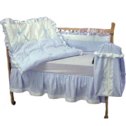 bkb Pretty Pique Crib Bedding Set, Blue