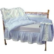 bkb Pretty Pique Crib Bedding Set, Blue