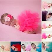Zytho(TM) 2016 New Design Newborn Baby Photography Props Accessories Handmade Crochet Cap Photography Tools Flower Cap And Tutu Skirt