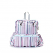 Gitta Mini Total Kids School Bag Child Infant preschool Backpack, Pink Stripes