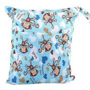 Waterproof Double Zipper Wet Dry Reusable Nappy Bag