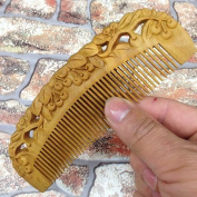 Classic wooden comb natural green's entire wood carvings comb new wooden comb