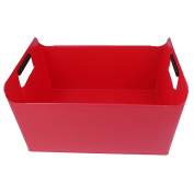 Pekky Storage Baskets/Bins with Handles,Multi-purpose (red) O