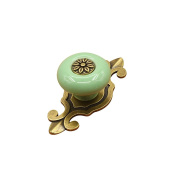 AMA(TM) Home Vintage Ceramic Door Cupboard Wardrobe Cabinet Dresser Drawer Knobs Door Pull Handle