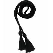 Black Honour Cords Polyester Yarn
