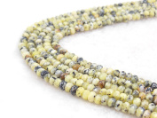 COIRIS 4MM Faceted Dyed Abacus Stone Gem Round Loose Stone Beads for Jewellery Making & DIY & Design