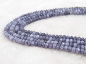 COIRIS 4MM Faceted Dyed Grey Abacus Stone Gem Round Loose Stone Beads for Jewellery Making & DIY & Design