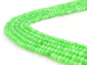 COIRIS 4MM Faceted Dyed Green Abacus Stone Gem Round Loose Stone Beads for Jewellery Making & DIY & Design