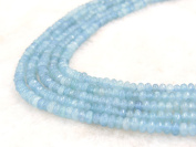 COIRIS 4MM Faceted Dyed Lt.Blue Abacus Stone Gem Round Loose Stone Beads for Jewellery Making & DIY & Design