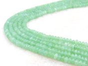 COIRIS 4MM Faceted Dyed Lt.Green Abacus Stone Gem Round Loose Stone Beads for Jewellery Making & DIY & Design