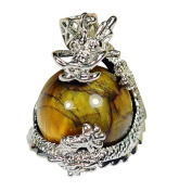 Qimoshi Dragon Claw Moving Natural Tiger Eye Ball Pendant for Girls Jewellery Necklace