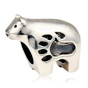 Fits Pandora Charms Bracelet 925 Sterling Silver Animal Bead Polar Bear Bead Charms European DIY Jewellery Findings